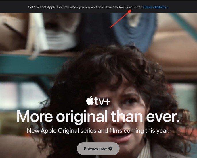 Apple faz referência ao final do ano grátis do Apple TV+ a 30 de junho