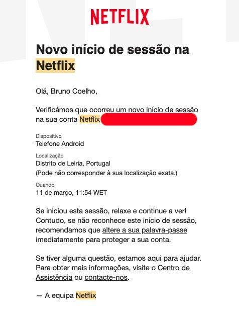 Este era o antigo aviso enviado pela Netflix aos utilizadores