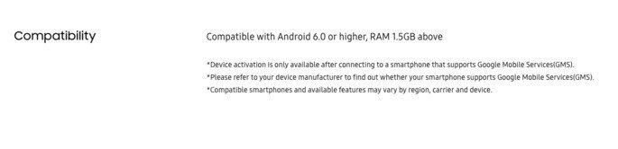 Samsung Galaxy 4 apenas compatível com Android