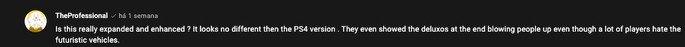 Utilizadores criticam falta de novidades na versão remasterizada do GTA V para a PS5