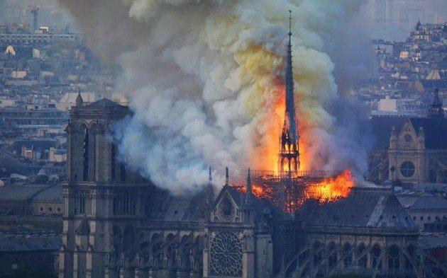Catedral de Notre Dame Drones DJI
