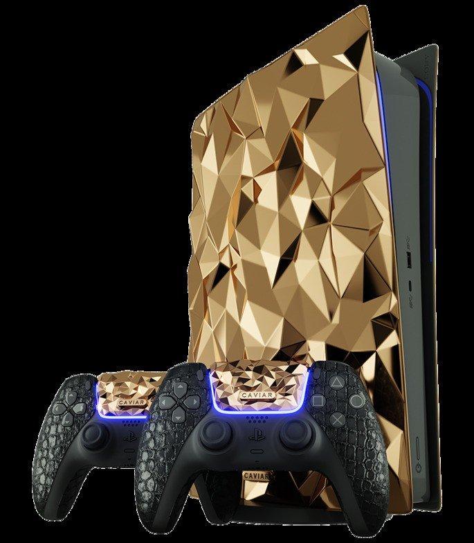 Consola PS5 de ouro da Caviar