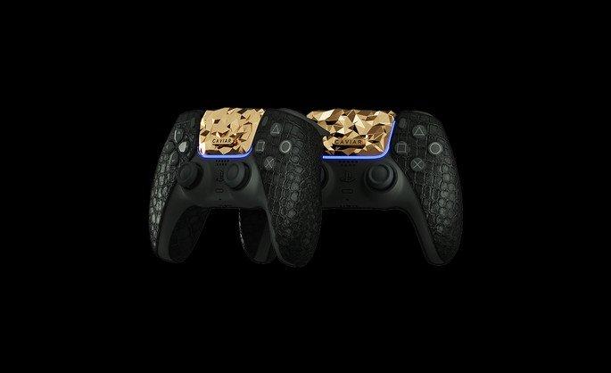Comandos da PS5 em ouro da Caviar
