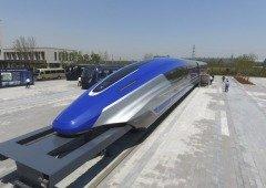 """Comboio na China """"flutua"""" com velocidades de 600Km/h"""