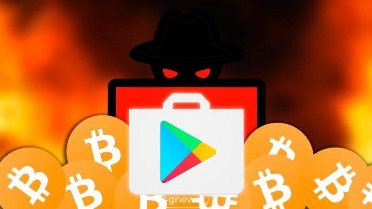 Cuidado! Google Play Store volta a sofrer com a subida das criptomoedas