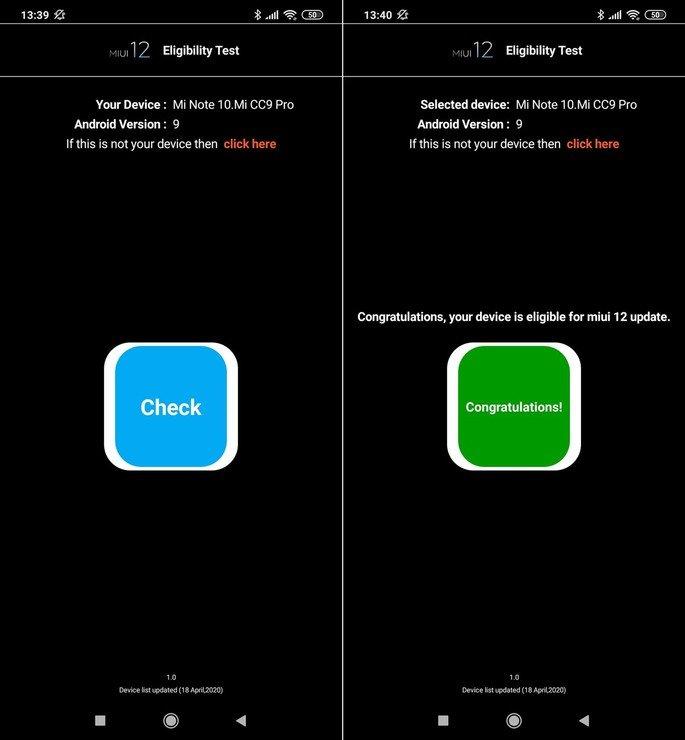 Xiaomi MIUI 12 teste aplicação Google Play Store