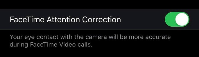 apple ios 13 facetime attention correction
