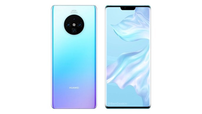 huawei mate 30 pro conceito render