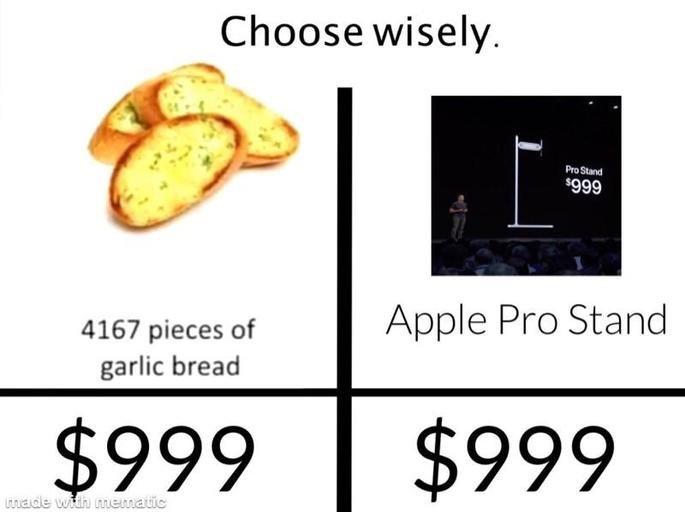 meme apple pro stand