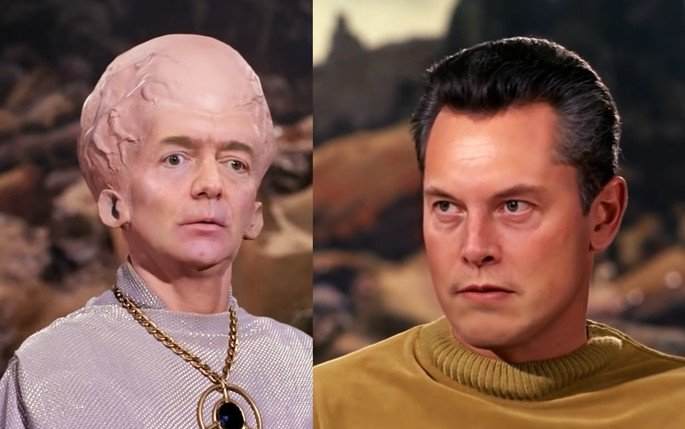 Este vídeo Deepfake mostra-nos Jeff Bezos e Elon Musk em Star Trek. (Impressionante)