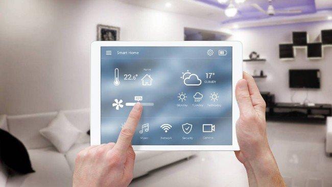Controlo dos sistema de casa em tablet