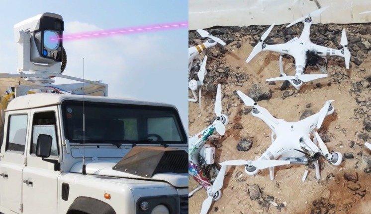 Drones estarão tramados com este sistema que os destrói com um laser (vídeo)