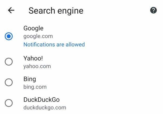 DuckDuckGo Chrome