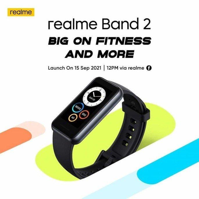 Este é o design oficial da Realme Band 2, com apresentação marcada para 15 de setembro na Malásia