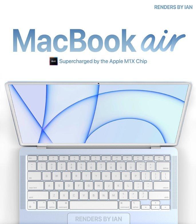 Concepto colorido de MacBook.  Crédito: Ian Zelbo
