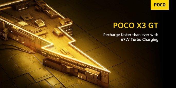 Carregamento rápido de 67 presente no POCO X3 GT