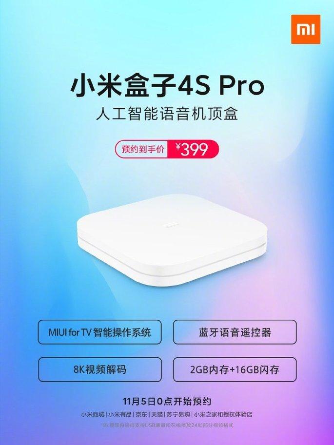 Cartaz da Xiaomi Mi Box 4S Pro
