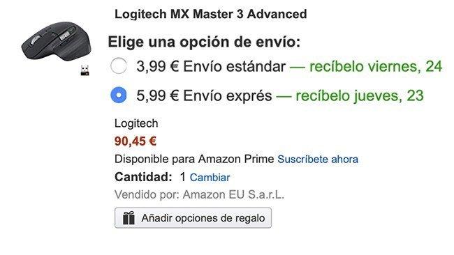 Custo do envio da Amazon.ES para Portugal