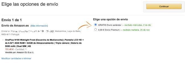 OnePlus Nord N100 Amazon.ES