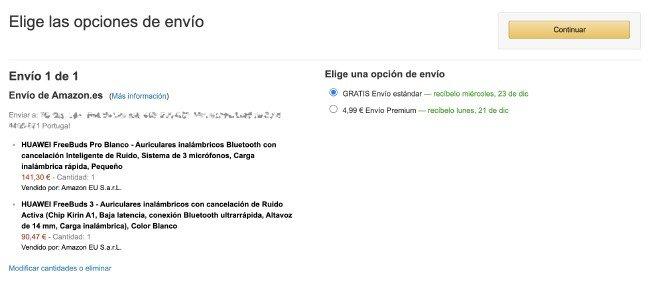 Shipping Amazon ES