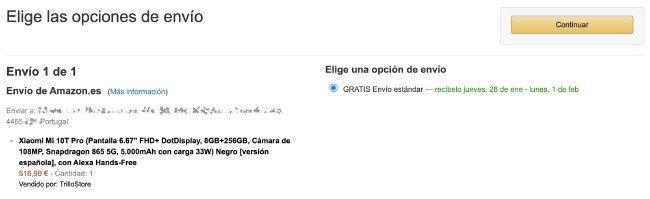 Envios Xiaomi Portugal Amazon