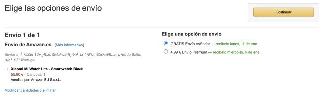 Xiaomi Mi Watch Lite envios Portugal