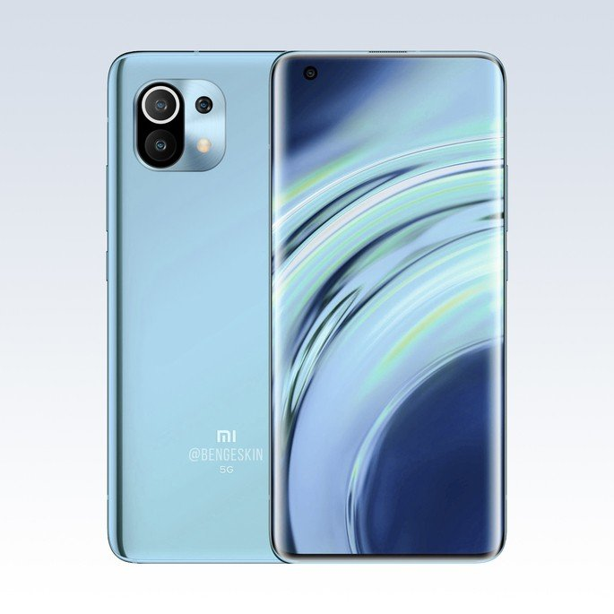 Conceito do Xiaomi Mi 11, segundo rumores.  Imagem: Ben Geskin