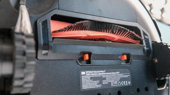 escova central do aspirador robot da Xiaomi em preto
