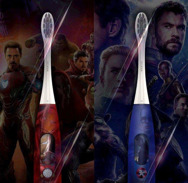 escova de dentes huami xiaomi oclean avengers iron man