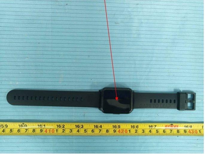 O design do Realme Watch 2. Crédito: FCC