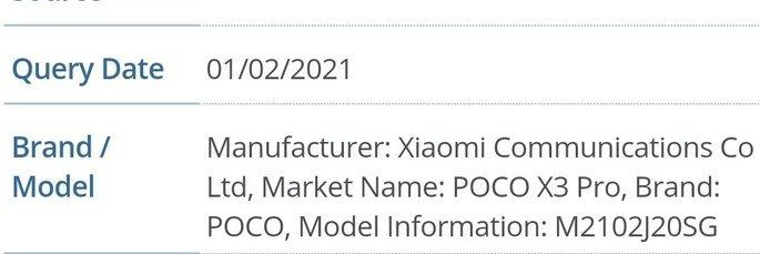 POCO X3 Pro certificado pela FCC