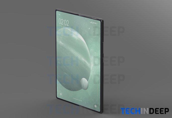 Conceito do Xiaomi Mi MIX Fold. Crédito: TechInDeep