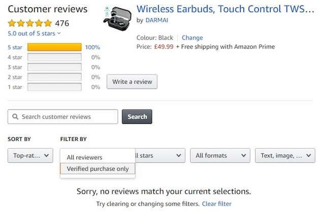 amazon review verificada