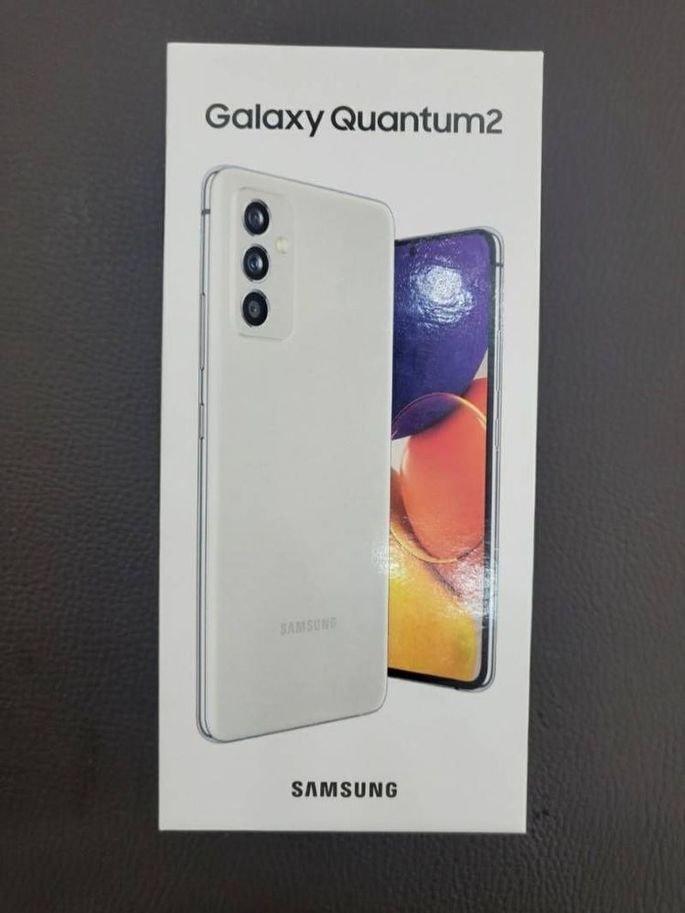 Caixa do Galaxy Quantum2, versão coreana do Galaxy A82