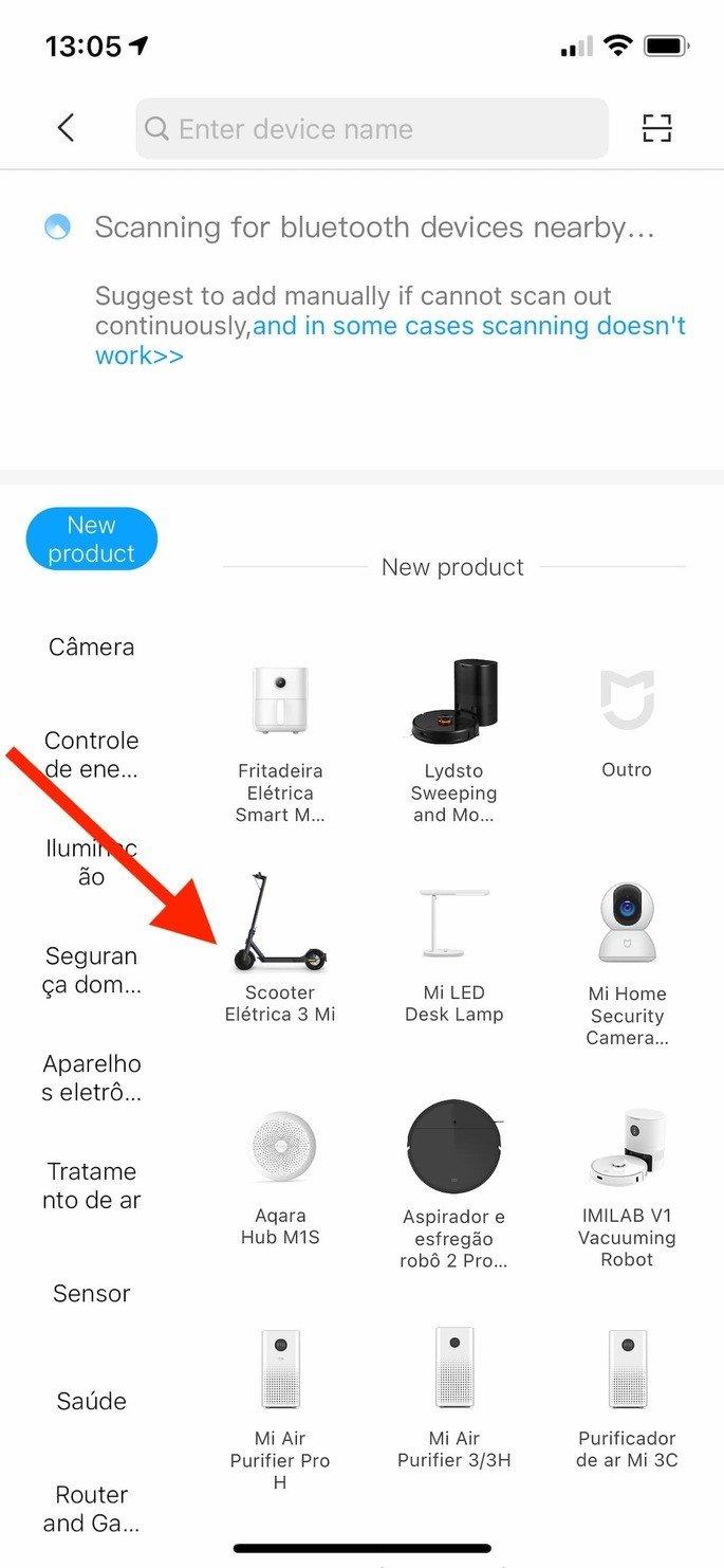 Xiaomi Mi Electric Scooter 3 listada na app Mi Home