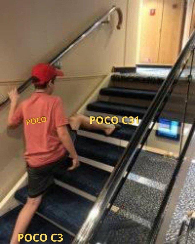 Fãs brincaram com a escolha do nome do POCO C31