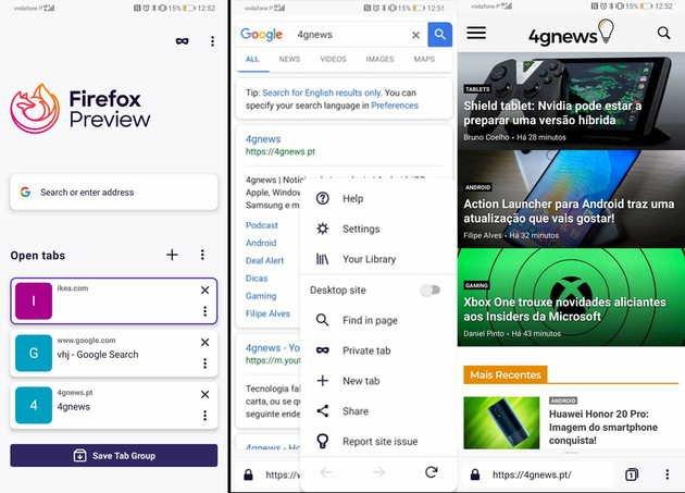 Fenix Firefox Preview