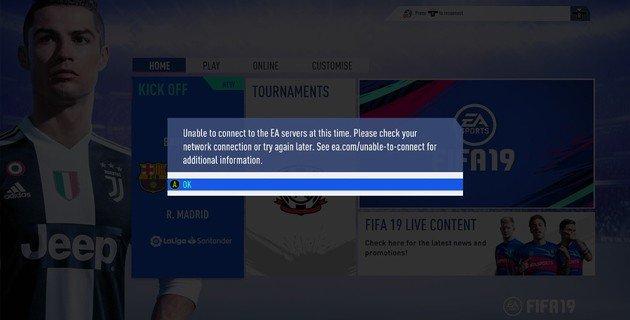 FIFA 19 problemas