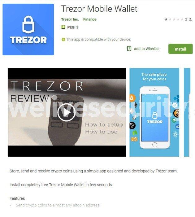 fake app trezor