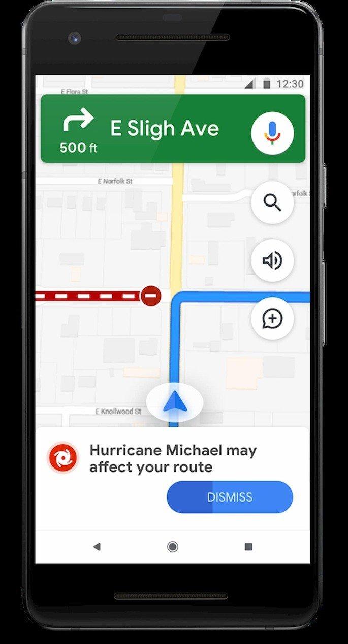 google maps navegação alerta sos