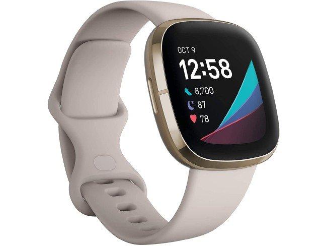 Fitbit Sense smartwatch in beige