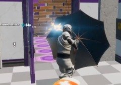"Fortnite traz guarda-chuva à prova de bala do filme ""Kingsman""!"