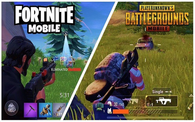 PUBG Mobile Fortnite Mobile