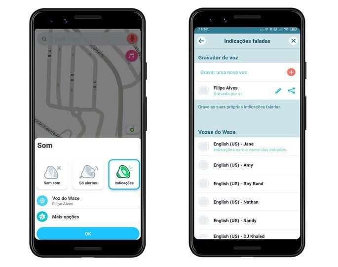 Waze app adicionar a tua voz
