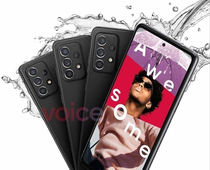 Imagem promocional do Samsung Galaxy A52. Crédito: Voice