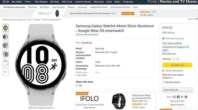 Samsung Galaxy Watch 4 Amazon