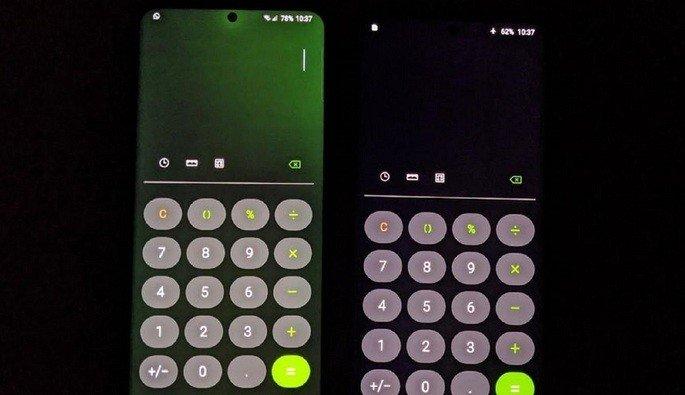 Galaxy S20 Ultra ecrã verde