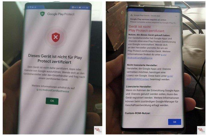 Google está a bloquear instalações de serviços Google nos smartphones Huawei