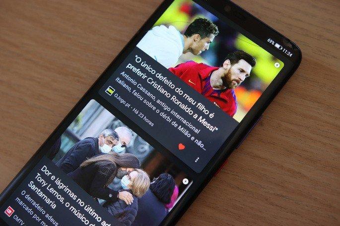 Google Discovery instalar no Android