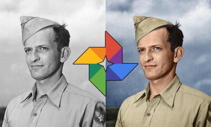 Google fotos preto e branco para cores